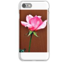 LONG STEM FRAGRANT PINK ROSE iPhone Case/Skin
