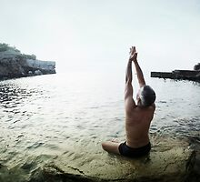 Yoga 7 by the beach, Mallorca by Wari Om  Yoga Photography