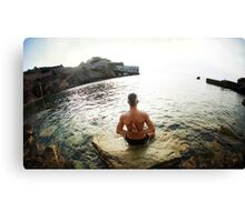 Yoga 7 by the beach, Mallorca Canvas Print