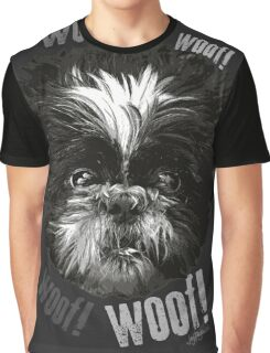 Shih-Tzu Says Woof! Woof! Graphic T-Shirt