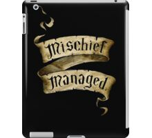 Mischief Managed Banner iPad Case/Skin