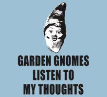 Garden Gnomes (black) Kids Tee