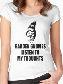 Garden Gnomes (black) Women's Fitted Scoop T-Shirt