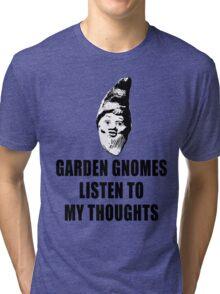 Garden Gnomes (black) Tri-blend T-Shirt