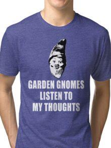 Garden Gnomes (white) Tri-blend T-Shirt