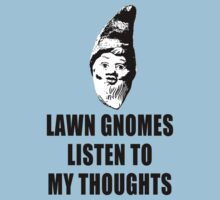 Lawn Gnomes (black) Kids Tee