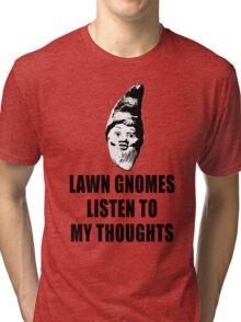 Lawn Gnomes (black) Tri-blend T-Shirt
