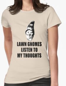 Lawn Gnomes (black) Womens Fitted T-Shirt