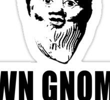 Lawn Gnomes (black) Sticker