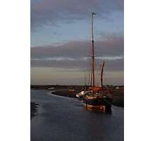 Sunset at Blakeney Photographic Print
