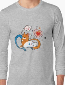 funny cats Long Sleeve T-Shirt