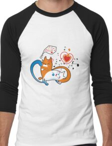 funny cats Men's Baseball ¾ T-Shirt