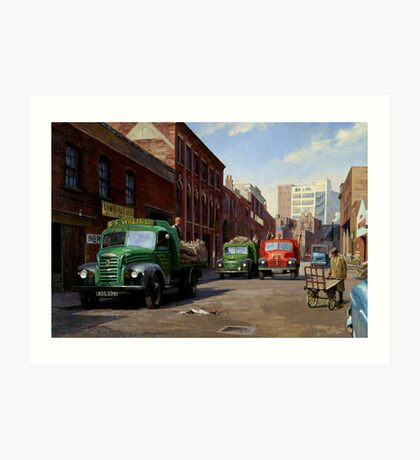 Birmingham fruit and veg market. Art Print