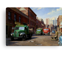 Birmingham fruit and veg market. Canvas Print