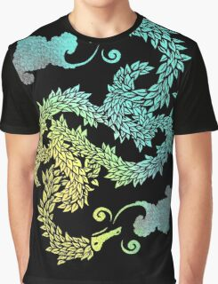 Dragons Blow | Chinese Dragon Yin Yang Graphic T-Shirt
