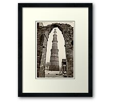 The Qutb Minar Framed Print