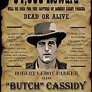Butch Cassidy Wanted Poster. by Sandylane