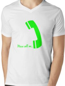 please call me Mens V-Neck T-Shirt