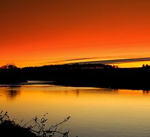 Fading Light over the River Tees, December 18 2011. ( 3 ft's) by Ian Alex Blease