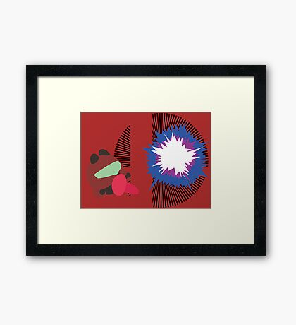 Samus (Kirby Hat) - Sunset Shores Framed Print