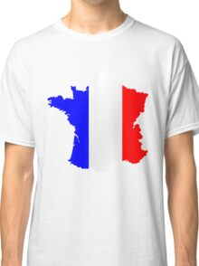 France Flag and  Map Classic T-Shirt
