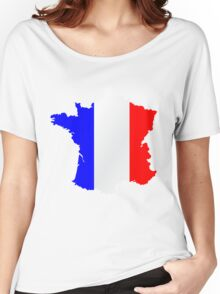 France Flag and  Map Women's Relaxed Fit T-Shirt