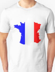 France Flag and  Map Unisex T-Shirt