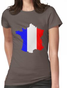 France Flag and  Map Womens Fitted T-Shirt