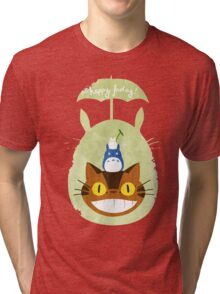 Happy Friday Catbus - Totoro Tri-blend T-Shirt