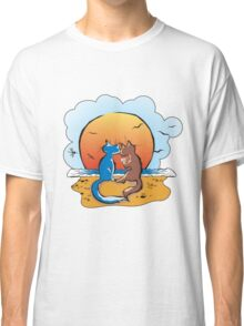 cats & sunset Classic T-Shirt