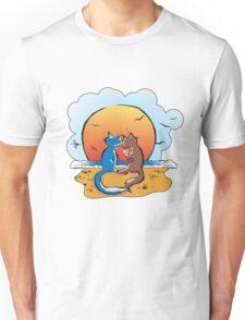 cats & sunset Unisex T-Shirt