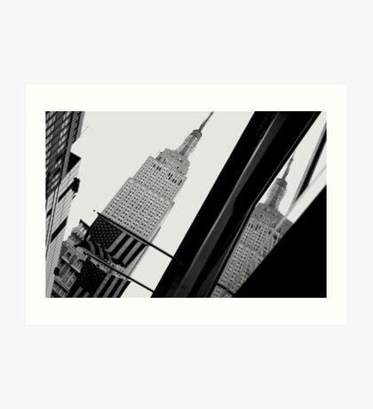 Empire State Building reflected Art Print