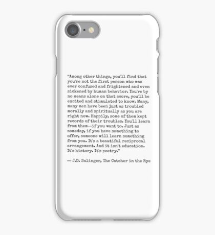 Catcher in the Rye Quote iPhone Case/Skin