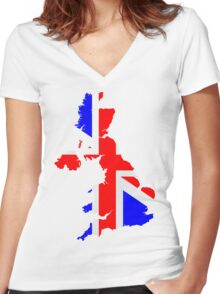United Kingdom Women's Fitted V-Neck T-Shirt