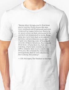 Catcher in the Rye Quote T-Shirt