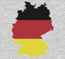 Germany Flag and Map One Piece - Long Sleeve