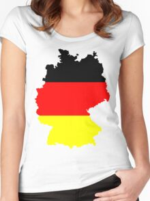 Germany Flag and Map Women's Fitted Scoop T-Shirt