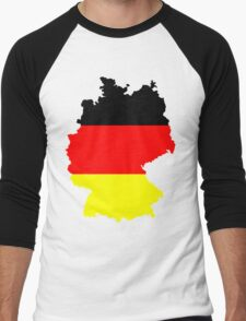 Germany Flag and Map Men's Baseball ¾ T-Shirt