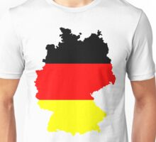Germany Flag and Map Unisex T-Shirt