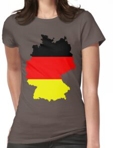 Germany Flag and Map Womens Fitted T-Shirt