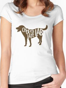 Chocolate Lab Women's Fitted Scoop T-Shirt