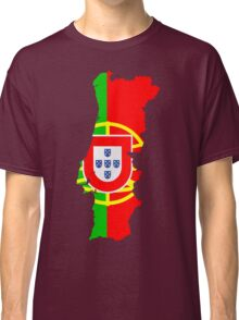 Portugal Flag and Map Classic T-Shirt