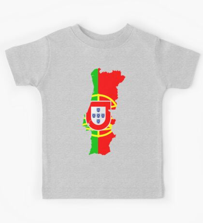 Portugal Flag and Map Kids Tee