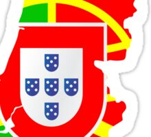 Portugal Flag and Map Sticker