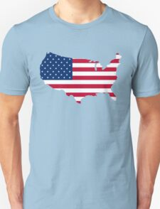 United States Flag and Map T-Shirt
