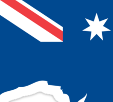 Australia Flag and Map Sticker
