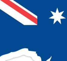 Australia Flag and Map Sticker