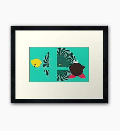 Rosalina & Luma (Kirby Hat) - Sunset Shores Framed Print