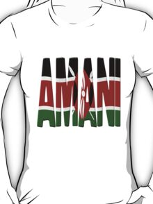 Amani - Kenya flag T-Shirt