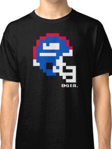 Tecmo Bowl - New York Giants - 8-bit - Mini Helmet shirt Classic T-Shirt